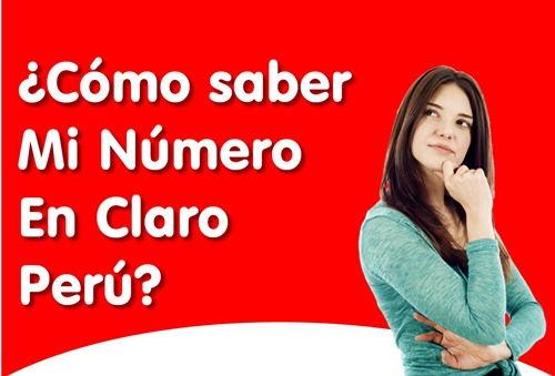 Cómo saber mi número claro Perú