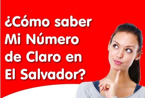 saber mi numero claro el Salvador